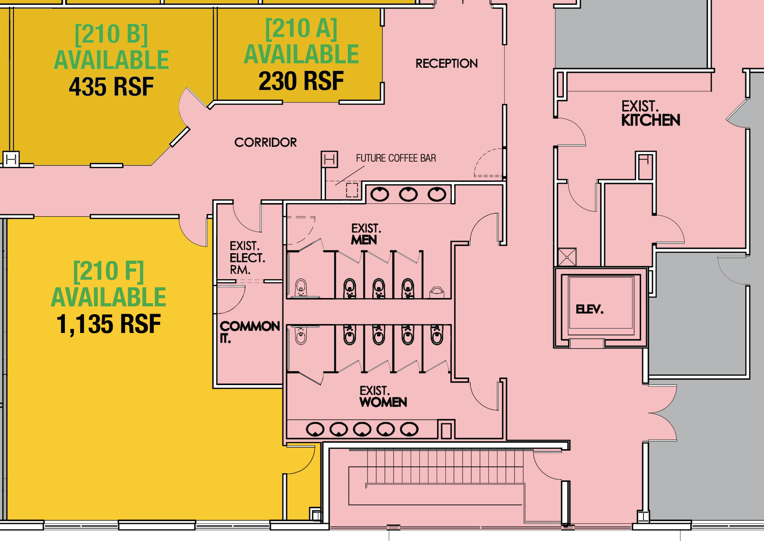 SUITE 210F - 1,135 RSF