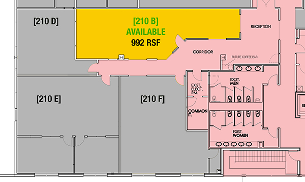 SUITE 210B - 992 RSF